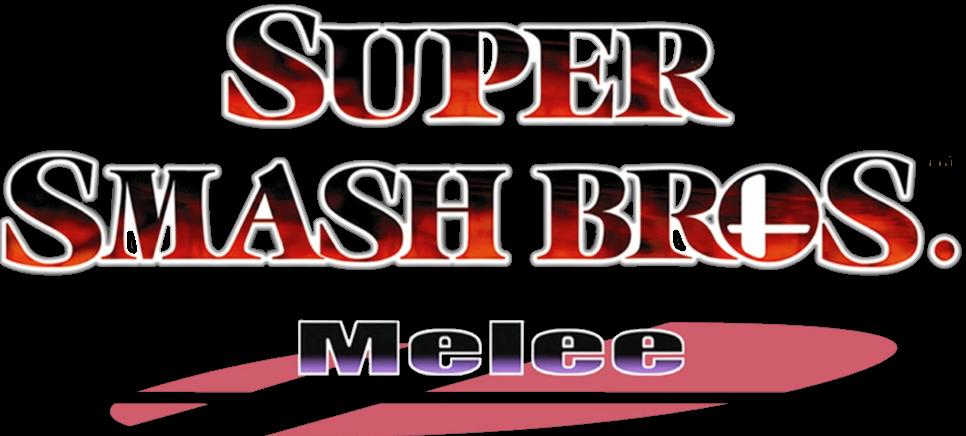 The Super Smash Bros Melee Logo Super Smash Bros Smash Bros Bros