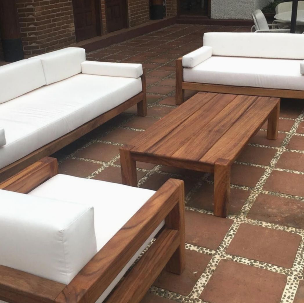 Pin By Jennifer Blair On Cool Ideas For Pallet Creations In 2020 With Images Wooden Patio Furniture Outdoor Wood Furniture Diy Patio Furniture