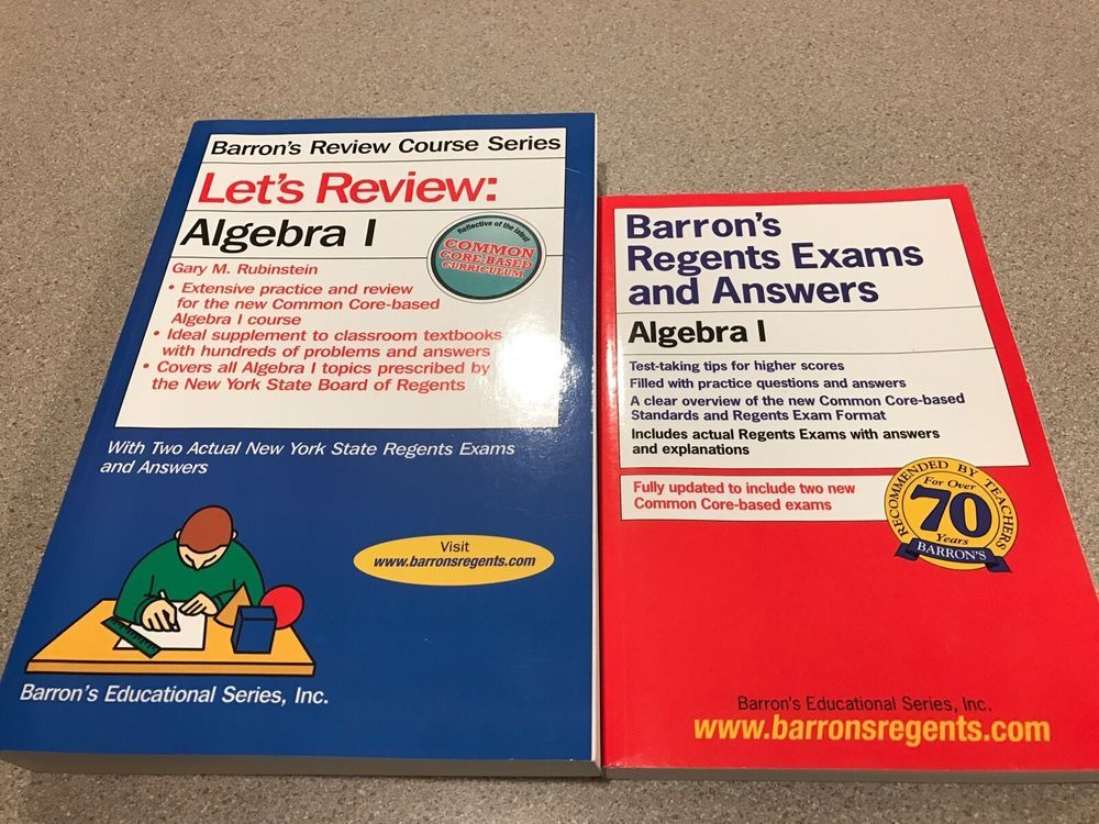 BARRON'S Let's Review: ALGEBRA 1 & Regents Exams & Answers