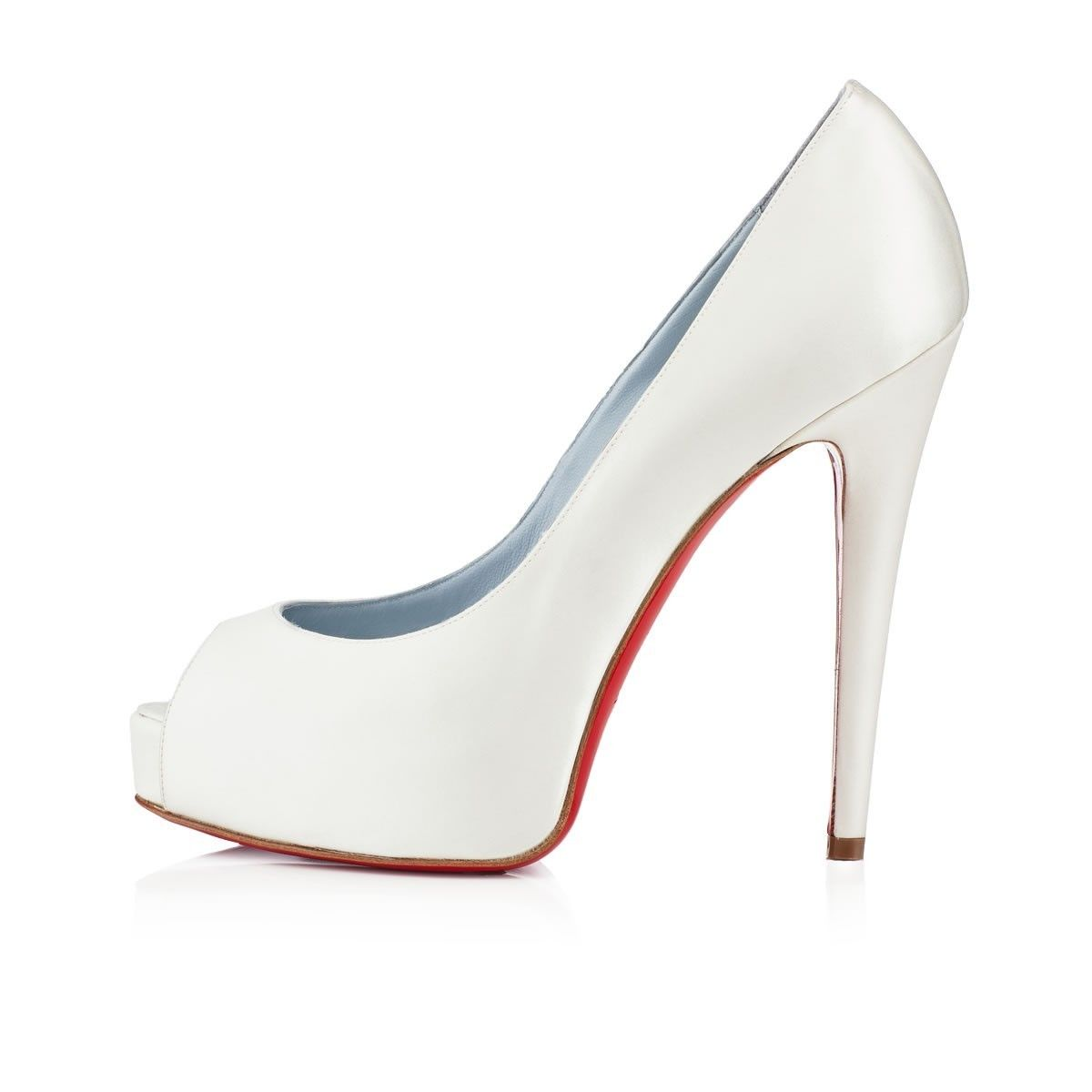 check-out aaedd 3c75a Chaussure Louboutin Pas Cher Escarpins Vendome 120mm Blanc ...