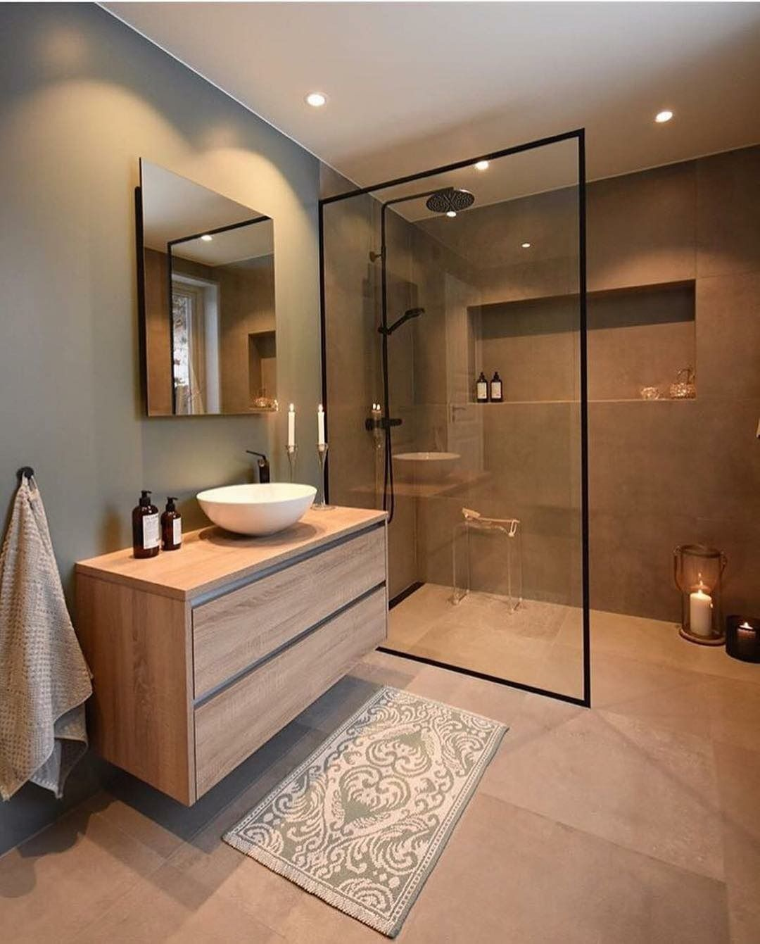 Top 5 Badezimmer Inspiration Diese Wochedas Perfekte Haus Im Skandinavischen Stil Badezimm In 2020 Bathroom Interior Design Modern Bathroom Design Minimalist Bathroom