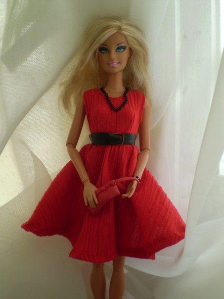 Как сделать одежду для кукол барби своими руками