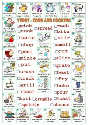 Verbs food and cooking verbs pinterest verbs food and cooking forumfinder Images