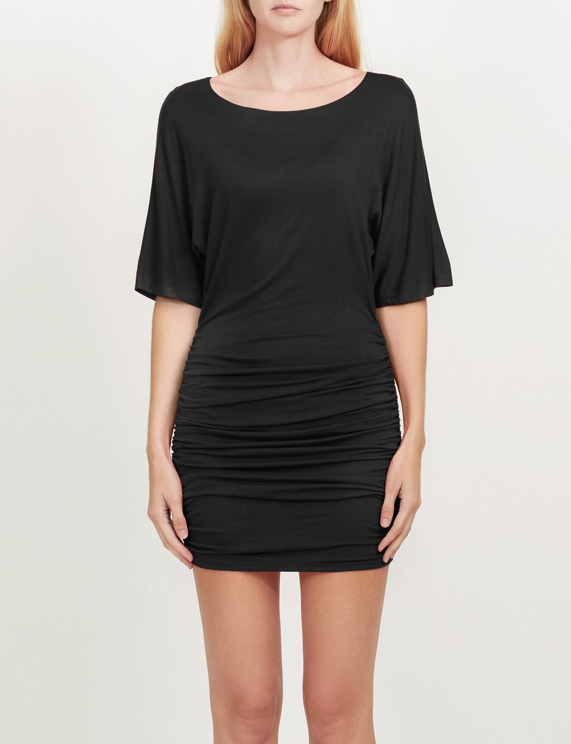 c143521c674e Looking and feeling sexy has never been easier with this stretchy batwing  sleeve scoop neck ruched
