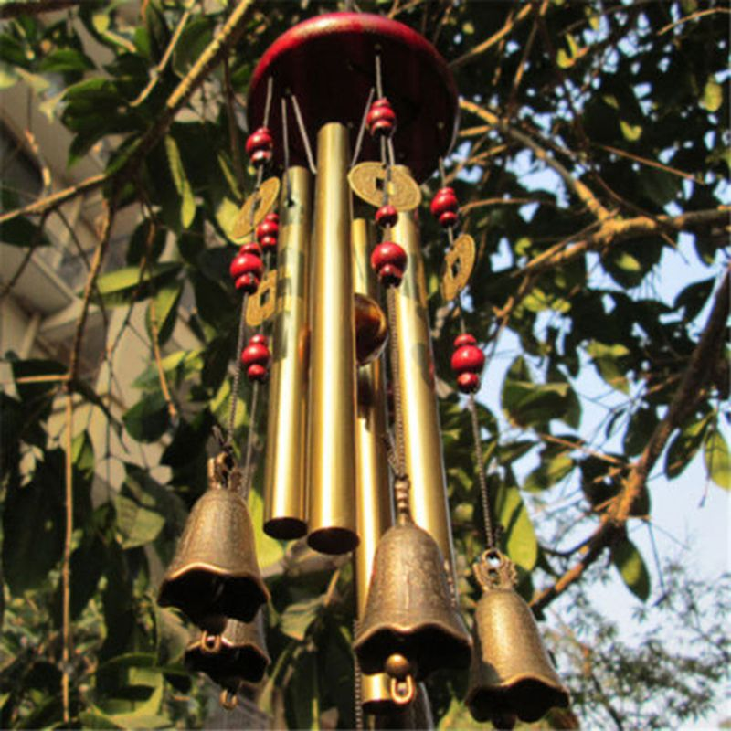 Tubes Bell Outdoor Living Wind Chimes Yard antique jardin cuivre Wall Home Decor