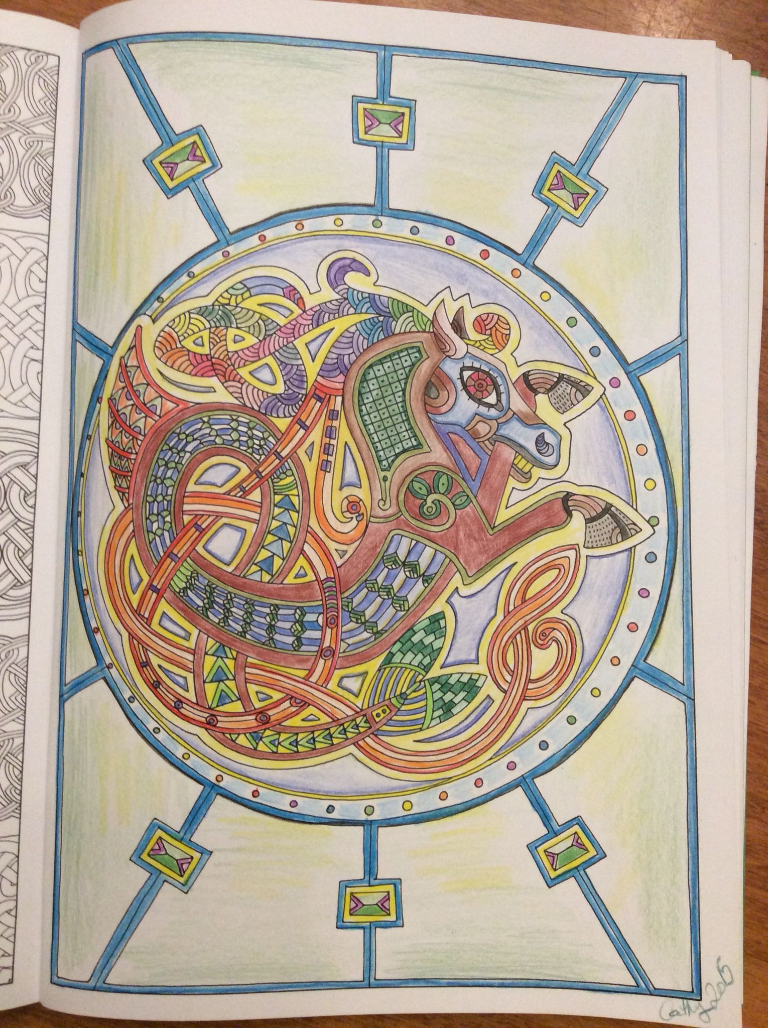 Horse From Art Therapy Celtic Cathyc 2015 ColouringColoring BooksArt