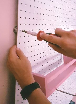 DIY Peg Board Sewing Room Organizer — Sirena Patterns