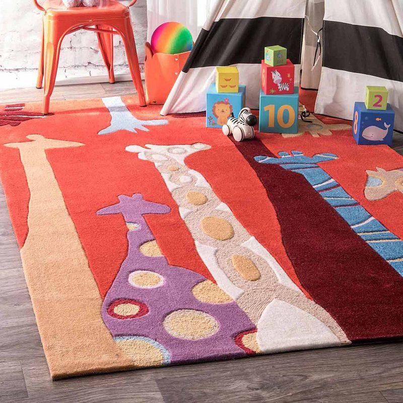 Nuloom Hand Tufted Giraffe Rug Kids Rugs Giraffe Nursery Plush