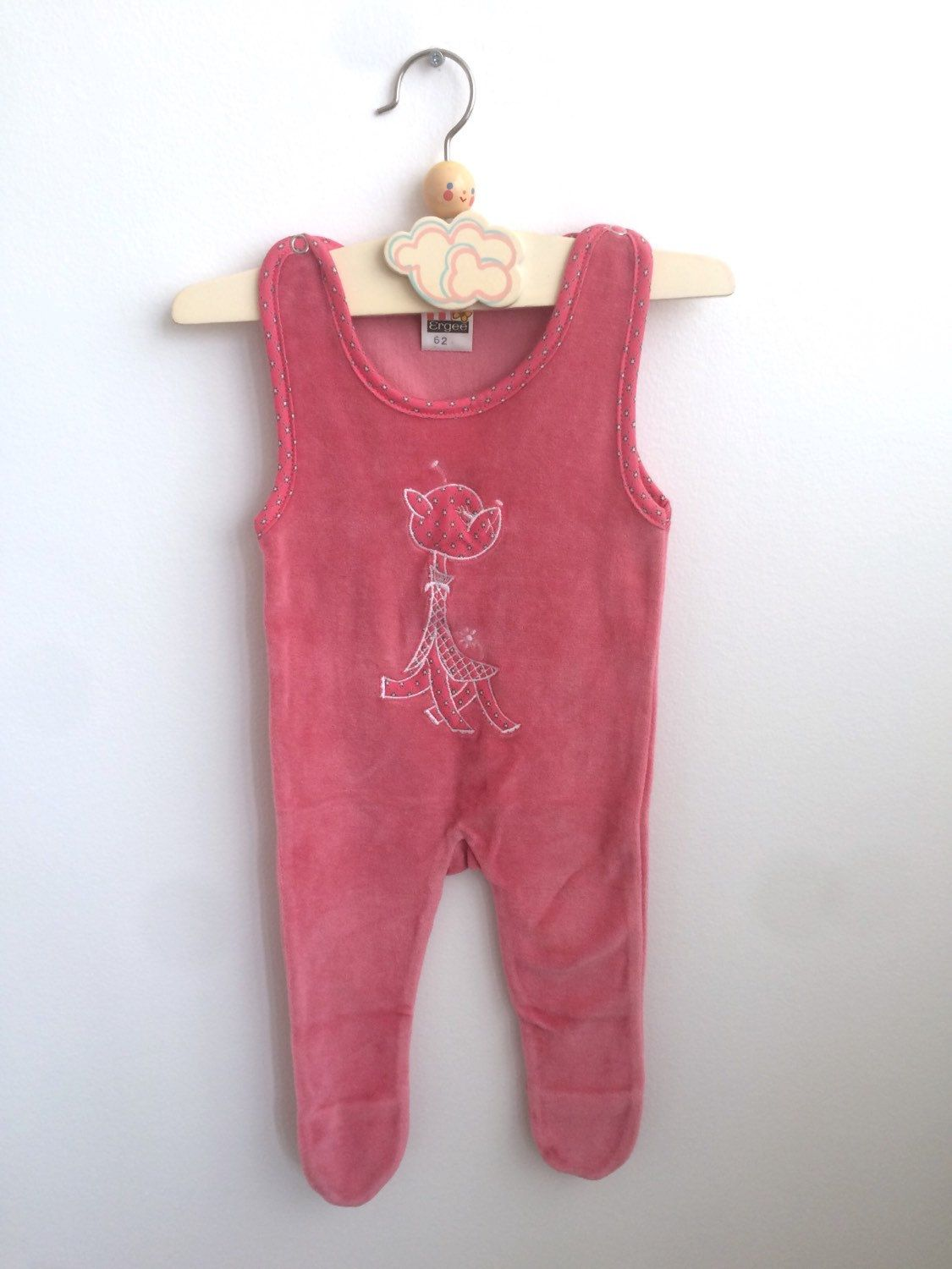 c3049c443782 Vintage Baby Girl Romper from the 80s