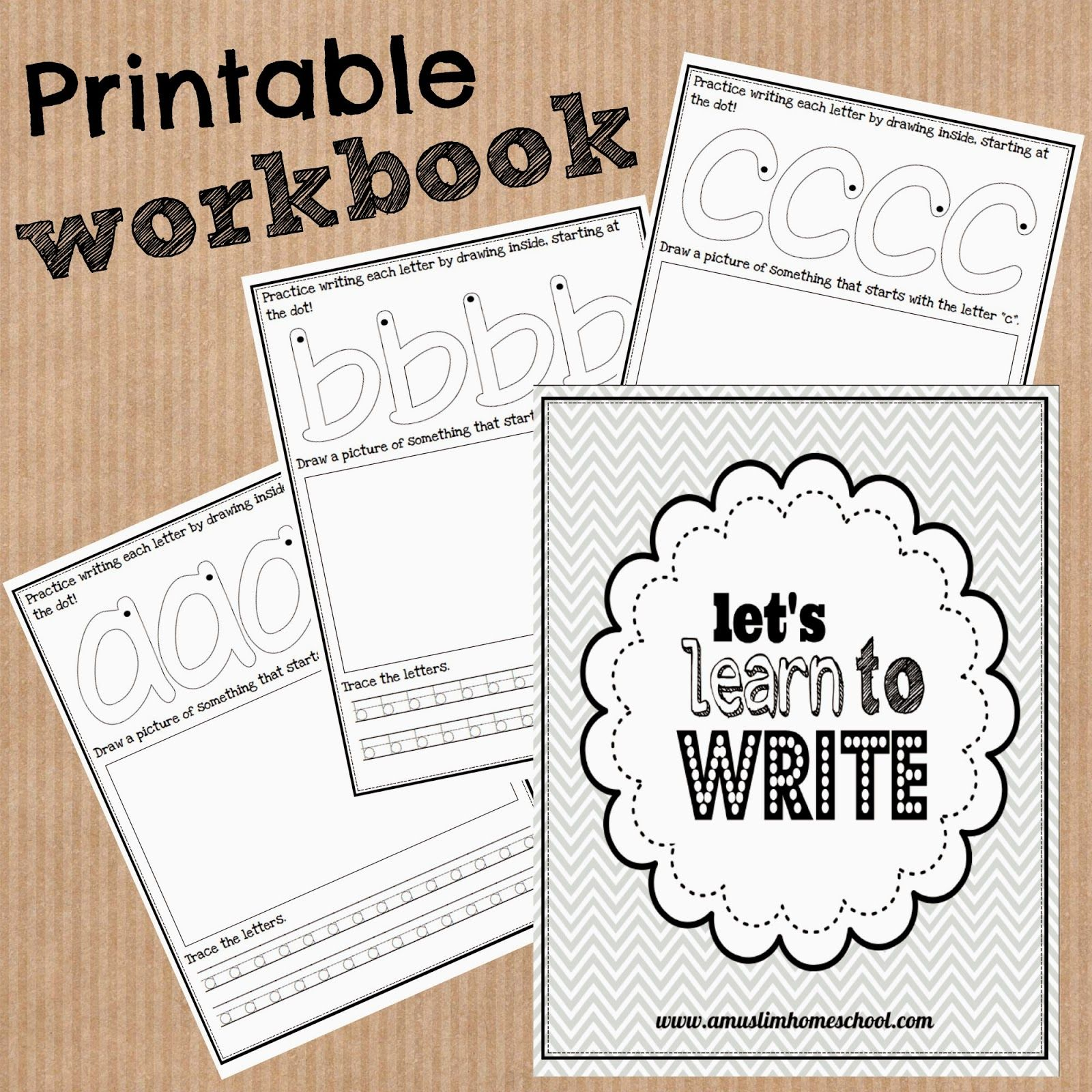 Printable Letter Tracing Workbook