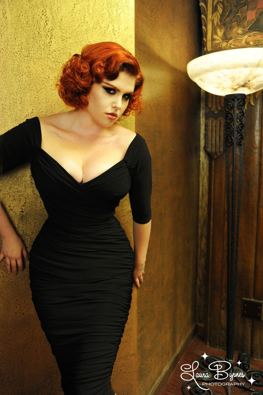 Monica Dress in Black Matte Jersey Knit