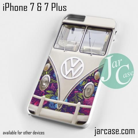 Vw Floral Bus Phone Case For Iphone 7 And 7 Plus Phone Cases