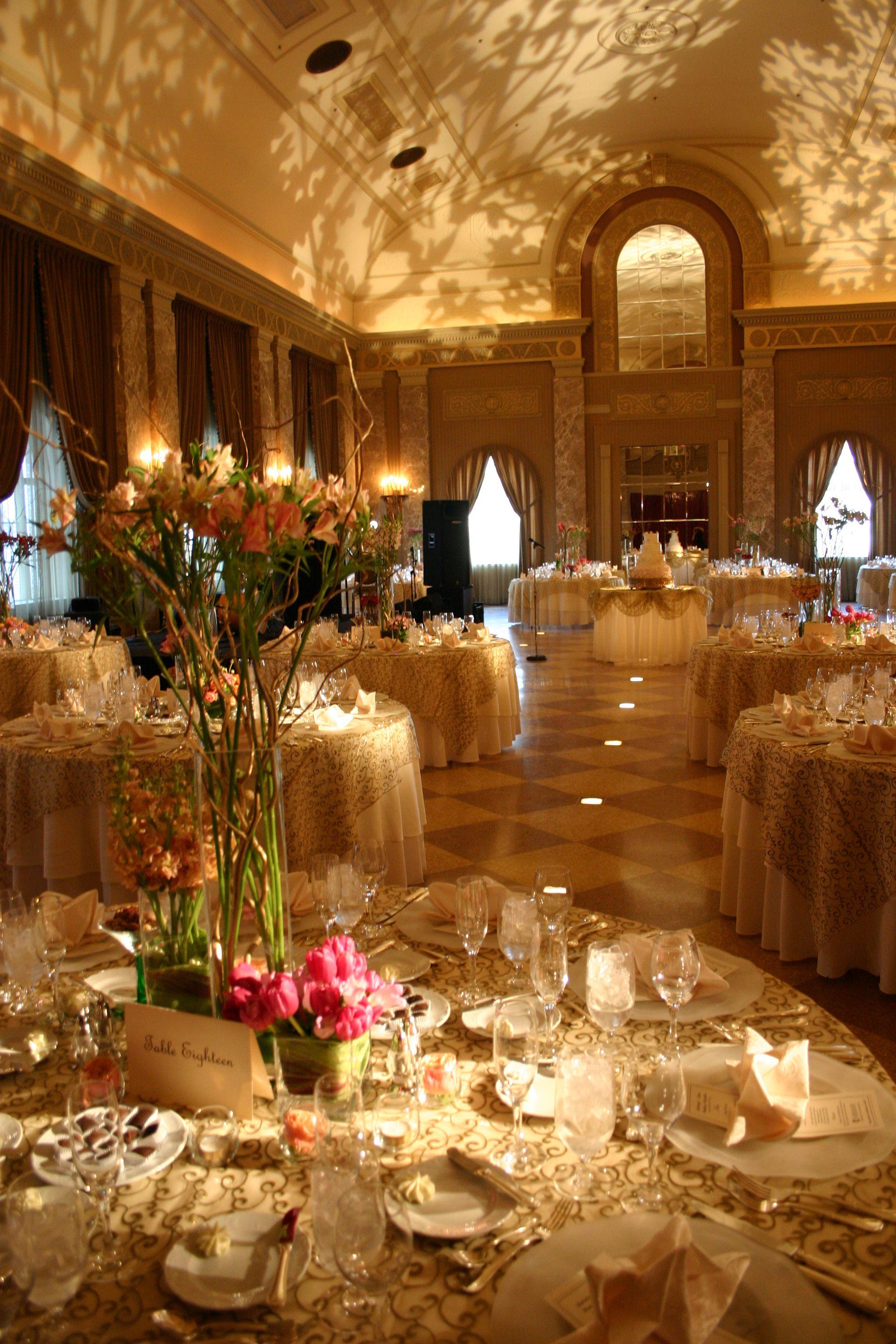Table Pin Spots and Gobo Lighting Wedding reception lighting