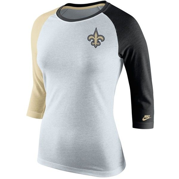 0b37609cb Nike Women s New Orleans Saints Strong Side T-Shirt ( 38) ❤ liked on  Polyvore featuring tops