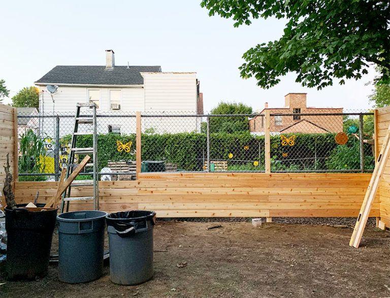 Bluestone Backyard Concrete, Fencing, and Covering Chain