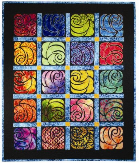 Diane's Garden, stained glass quilt pattern | Details By Diane