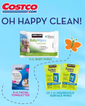 FREE Baby Wipes, Facial Towelettes and Household Surface