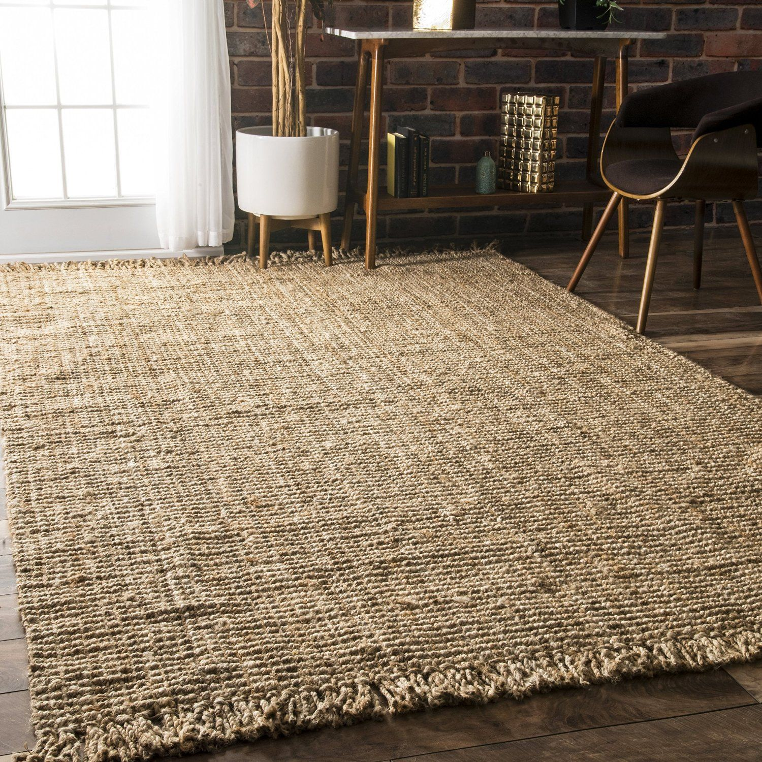 Smile Nuloom Natural Collection Chunky Loop Jute Casuals Fibers Hand Woven Area Rug