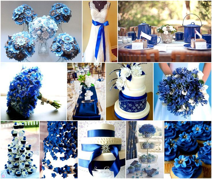 Royal Blue and Silver Wedding Decorations | 1000+ images ...