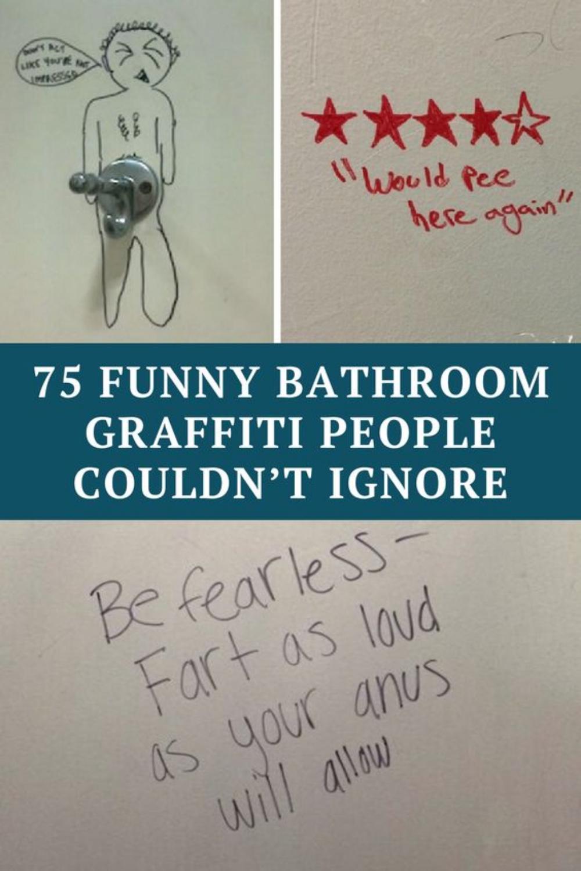 75 funny bathroom graffiti people couldn't ignore