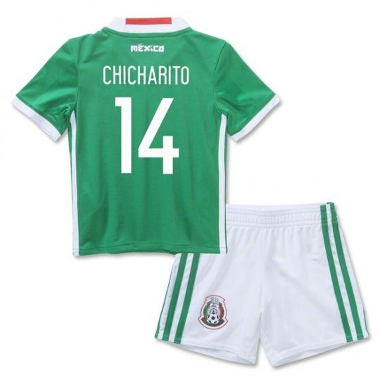 74988e845 16-17 Mexico Soccer Team Home Replica Shirt Kids Kit  14 CHICHARITO 16-17 Mexico  Soccer Team Replica Shirt Kids Kit  14 CHICHARITO