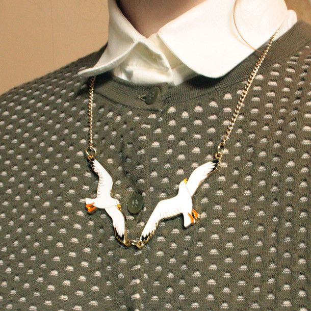 Seagull necklace red brick eufab dream style pinterest seagull necklace red brick eufab mozeypictures Gallery