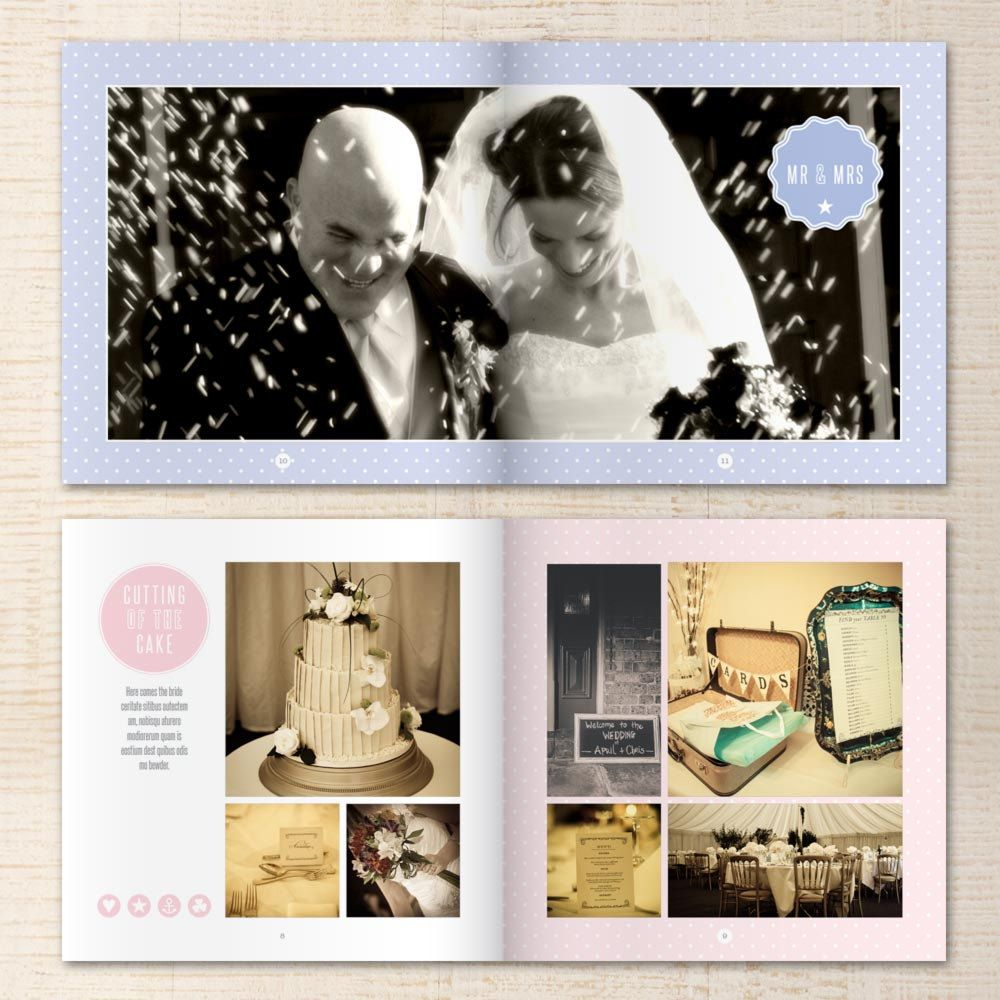 Indesign Wedding Photo Al Template 10x10 Inch Por Aprilandbess