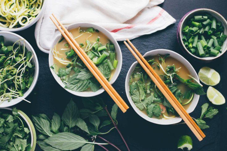 PHO — zucchini, cilantro, lime. This Vietnamese staple is bursting with antiviral and antibacterial activity.