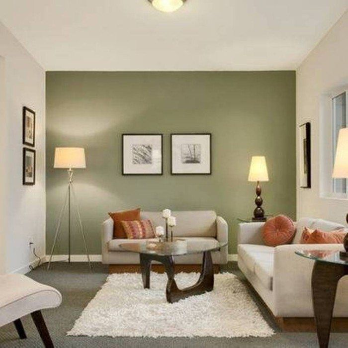 Accent Wall Colors: Good Accent Walls In Living Room Inspiration 761