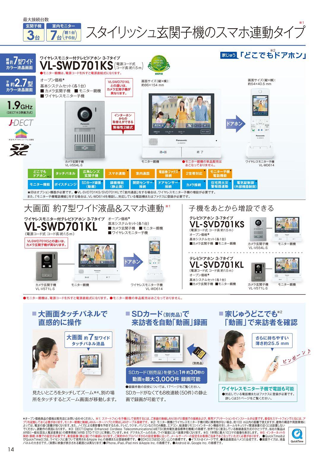 テレビドアホン インターホン センサーカメラカタログ Webカタログ Panasonic Web カタログ カタログ カメラ