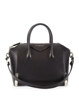 Givenchy Antigona Small Waxy Leather Satchel Bag   cynthia reccord