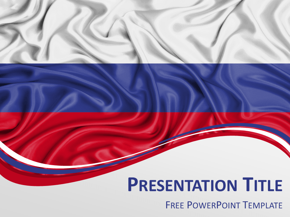 Russia flag powerpoint template presentationgo russia flags free powerpoint template with flag of russia background toneelgroepblik Gallery