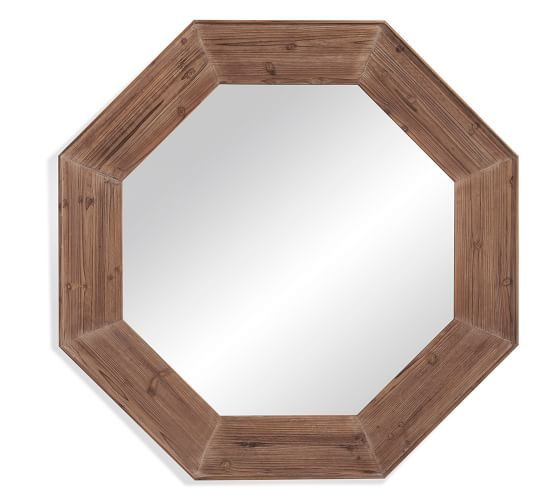 Wood Octagon Mirror Octagon Mirror Mirror Wall