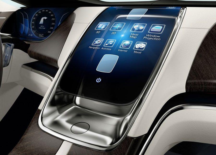 Futuristic Dashboard 2011 Volvo Universe Concept Infotainment
