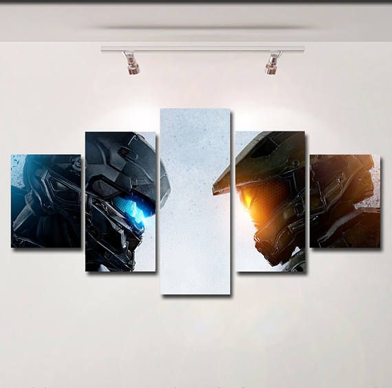 HALO 5 poster canvas wall art print painting wall hanging home decor ...