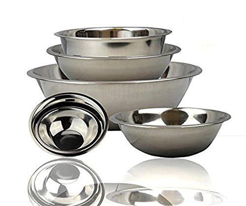 Finedine Stainless Steel Bowls Nesting Kitchen Mixing Bowl Set Mirror Finish 6 Pieces Cookware Set Stainless Steel Stainless Steel Mixing Bowls Mixing Bowls