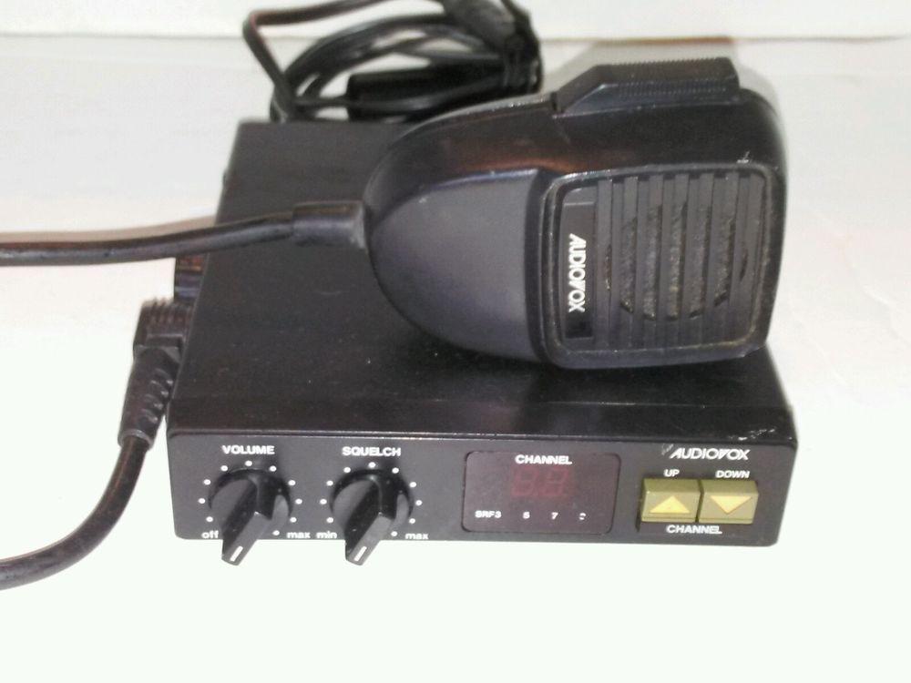 Audiovox 40 Channel Cb Radio Model Mcb 17 Tested Works Cb Radio Radio Model
