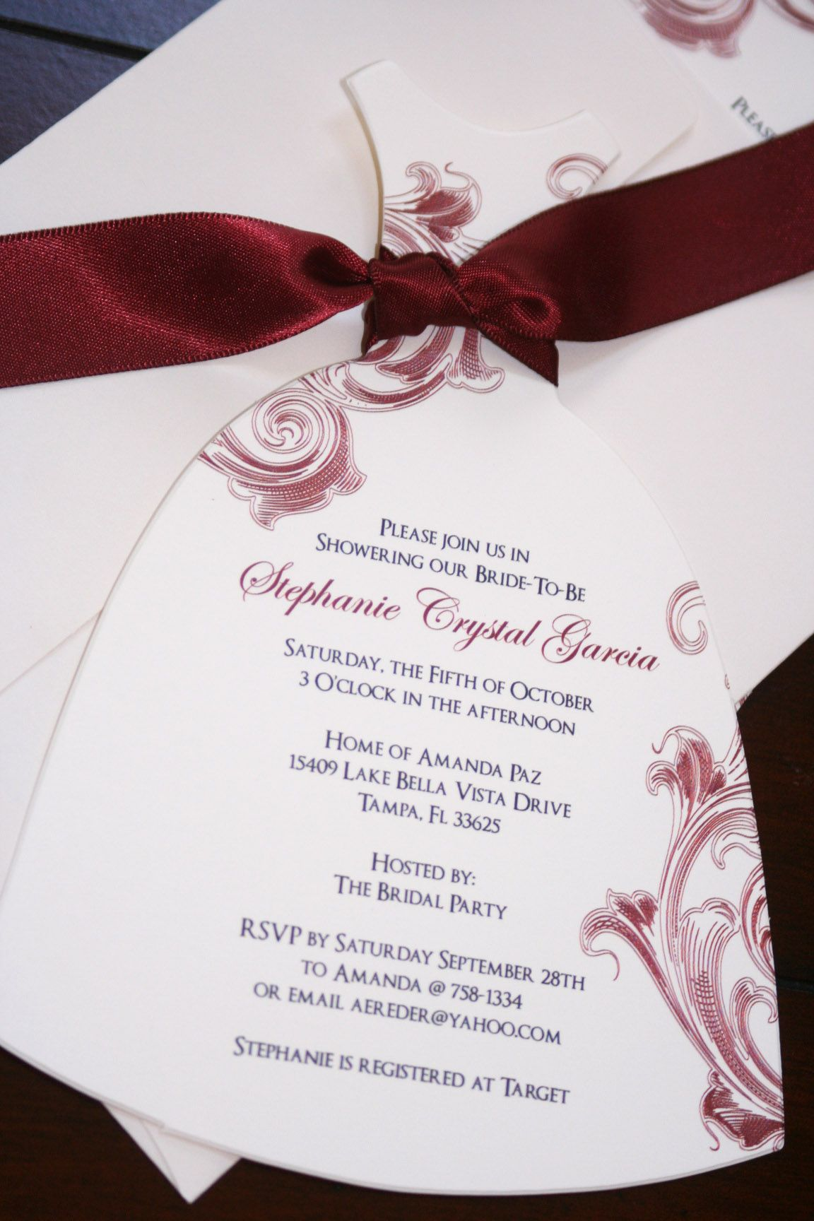wedding dress bridal shower invitations cool Wedding Dress Bridal – Wedding Dress Shower Invitations