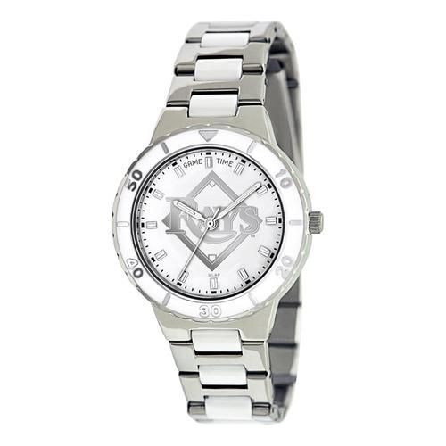 Tampa Bay Rays Ladies Stainless Steel Dress Watch