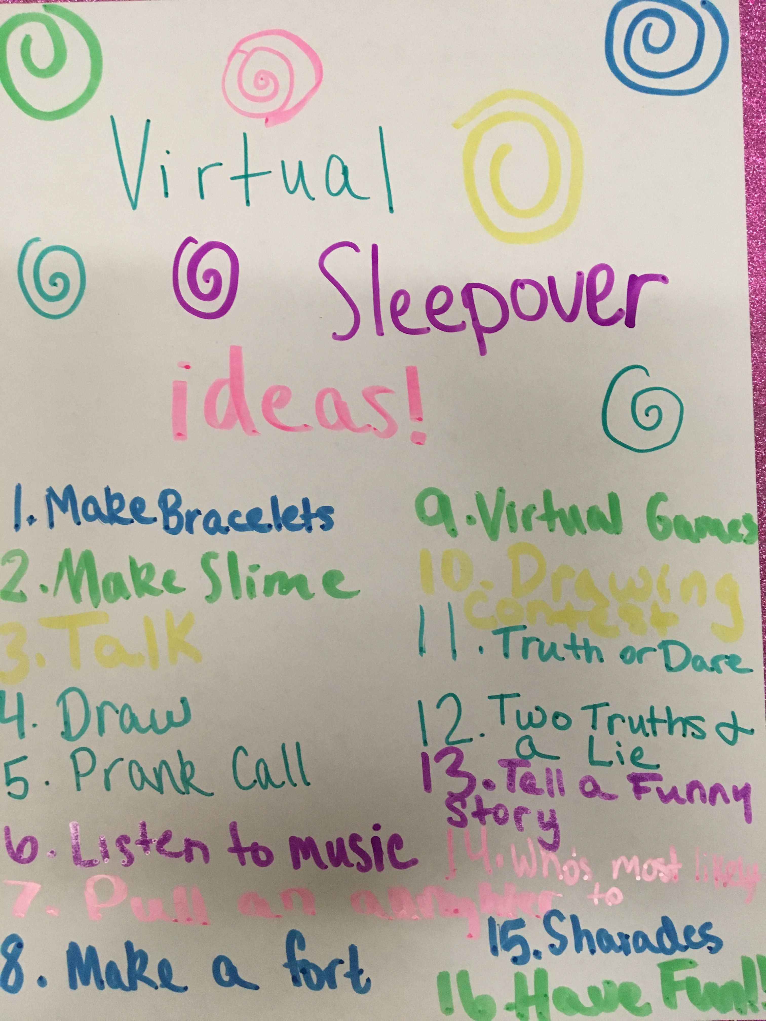 It says virtual but it works for a normal sleepover too