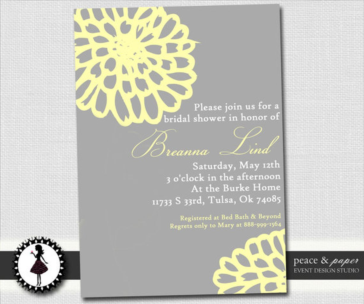 best classic bridal shower invitations you can try bridal