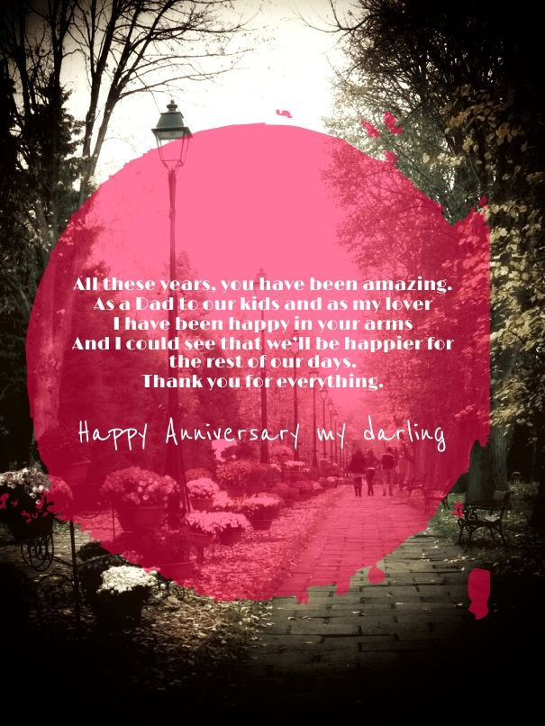 Short Anniversary Quotes for Husband with red picture | Cute Love ...