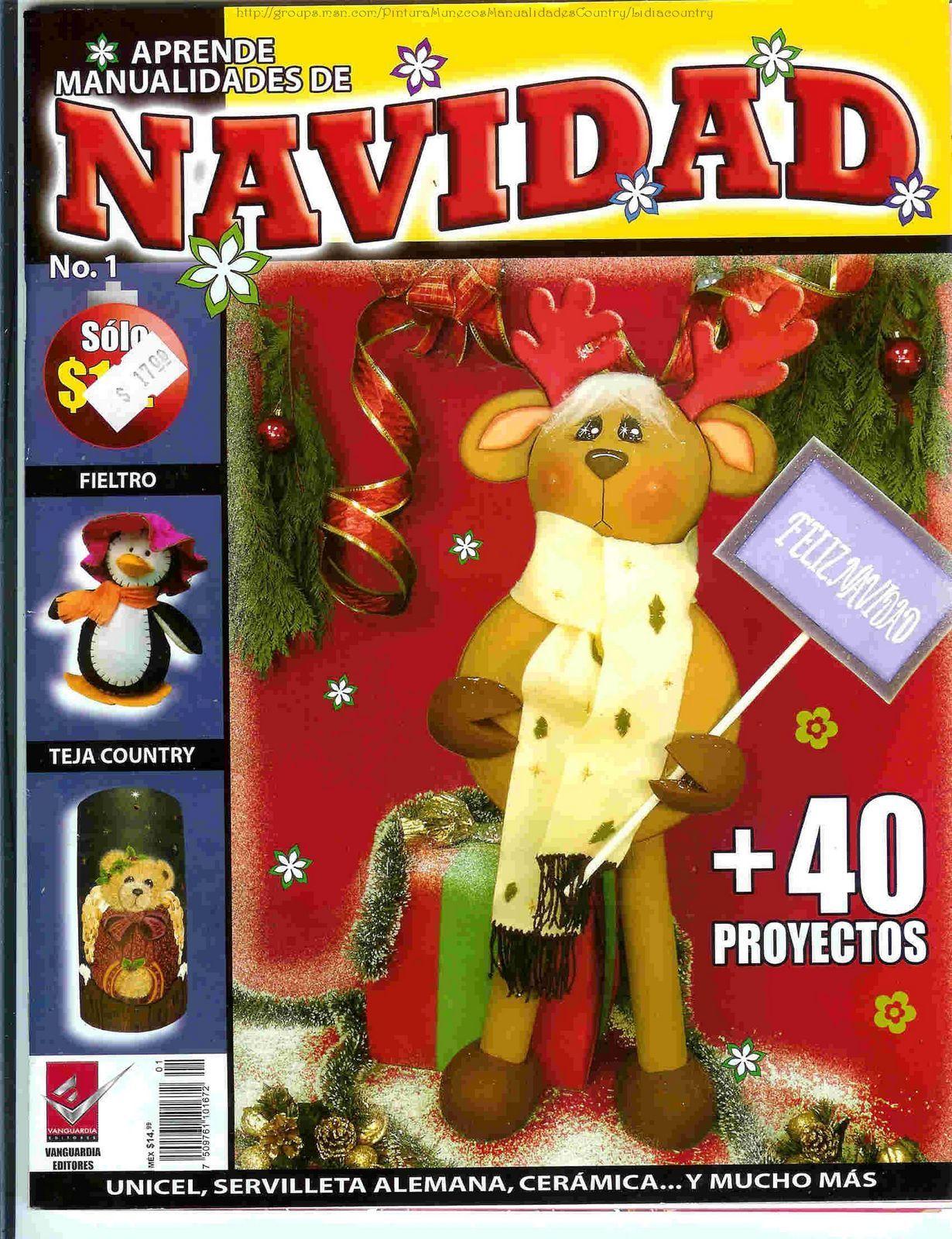 650b37b6e2e Revistas de manualidades Gratis  moldes navideños en foamy gratis ...