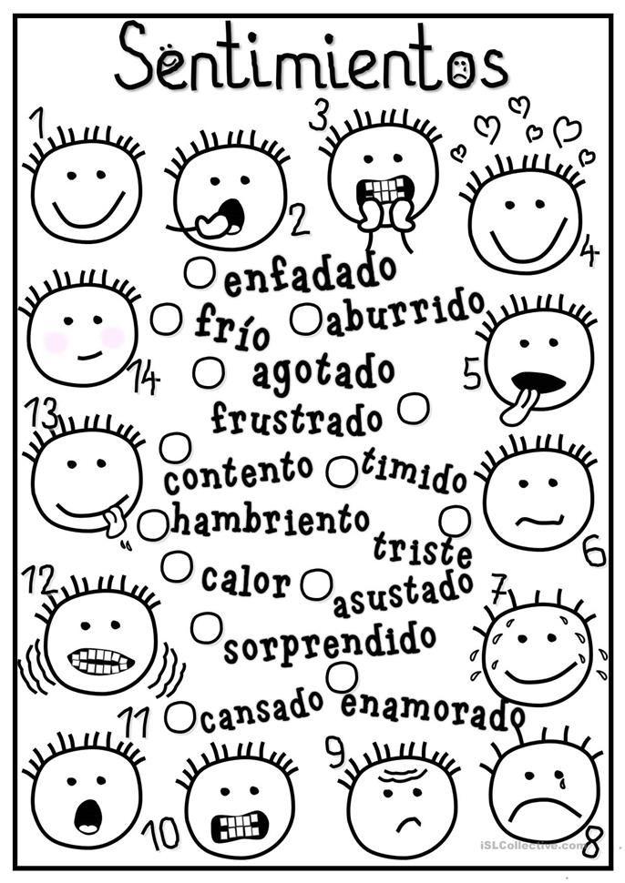 Spanish feelings. Sentimientos | Spanish for Kids | Pinterest ...