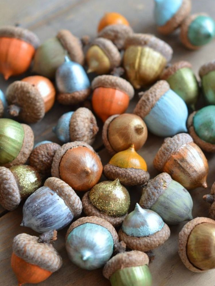 Photo of DIY painted acorns – Home Decorating Trends – Homedit