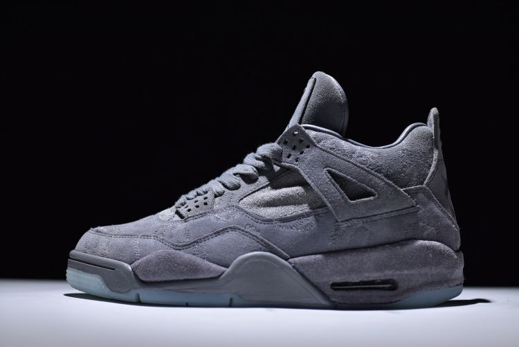 New Release Kaws x Air Jordan 4 Retro Cool Grey White Mens Sneakers ... cbc409f85