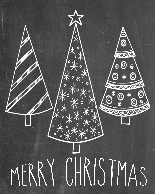 Chalkboard Merry Christmas - Google Search