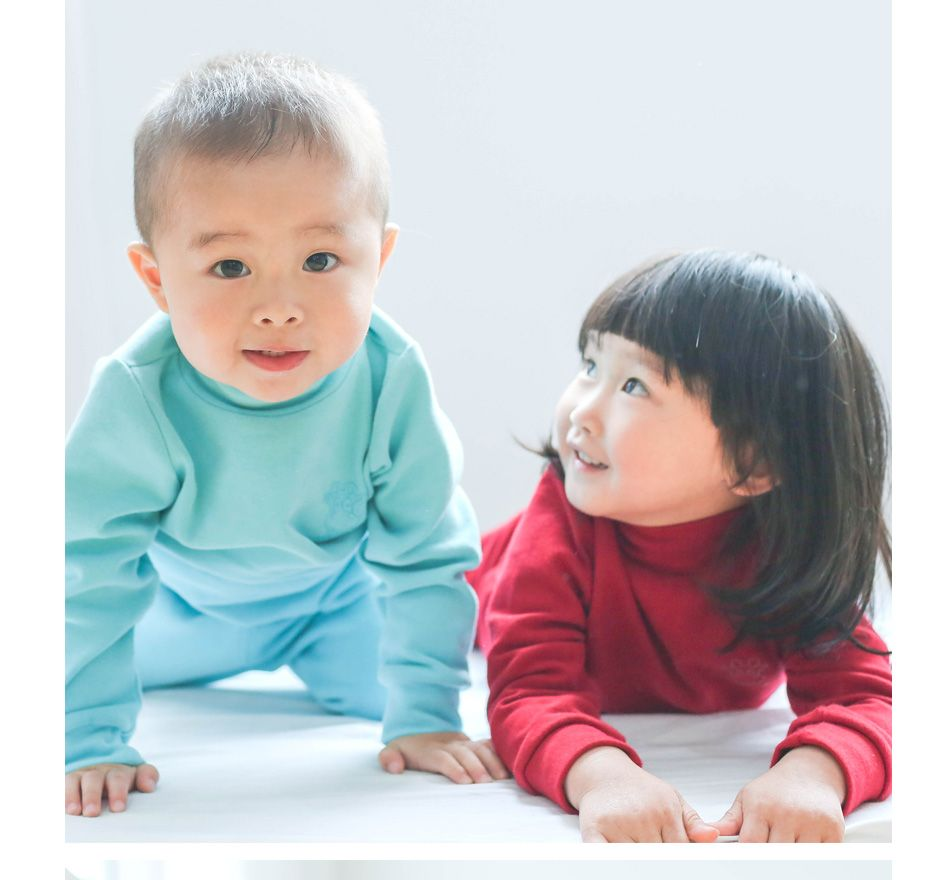 058293321a44 Kids Thermal Underwear Solid Thick Cotton . Baby Boys and Girls Long ...