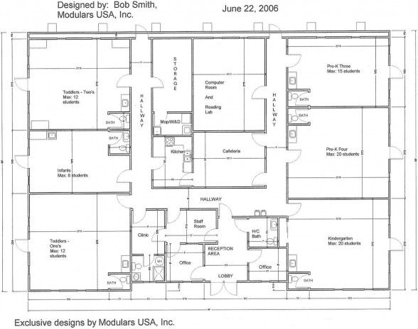 Floor Plan For Mindexpander Day Care Center Pre-k and daycare - care plan