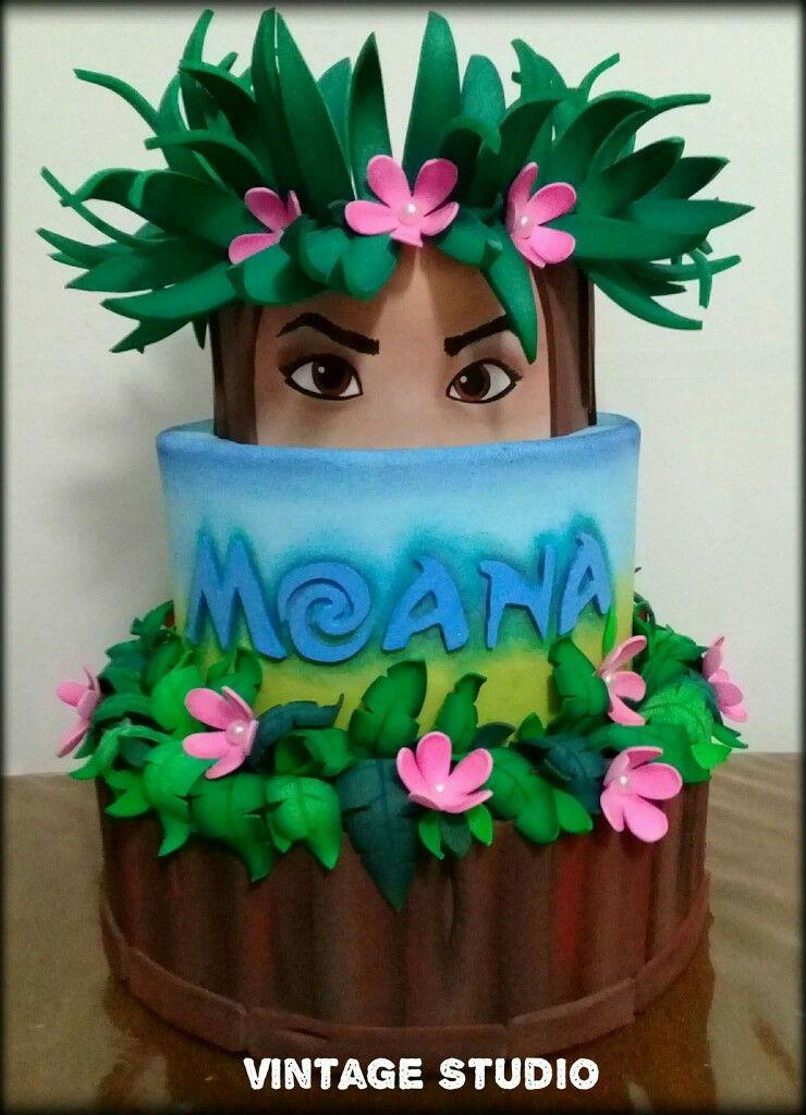 Tropical Themed Cake Moana Party Ideas Pinterest Moana Cake